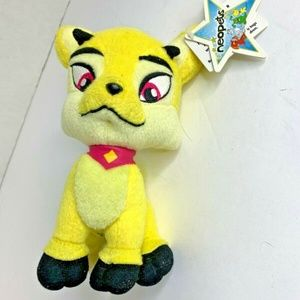 New Neopets Plush Yellow Stuffed Animal Toy LXI 7 in Tall 13754 Cat